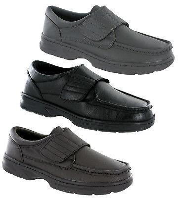 Dr Keller Texas Leather Wide Fit Lightweight Adjustable Comfort Smart Mens Shoes Waren Des TäGlichen Bedarfs