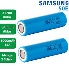 2er Samsung INR21700 Akku 50E 5000mAh 15A 3,6V // 3,7V max 21700 Akkus viele Einsatzm/öglichkeiten inkl M.CEP Touchpen