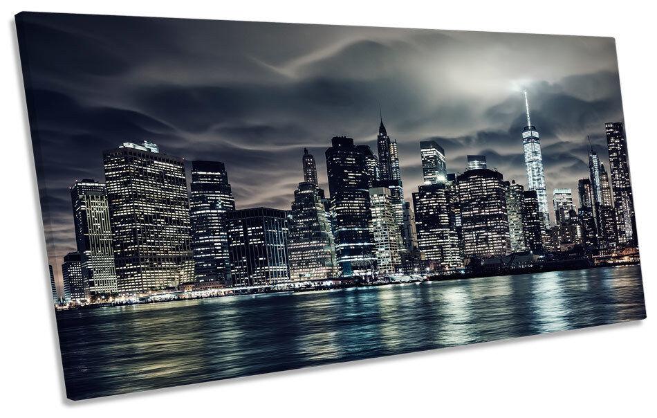 New york city skyline panoramic manhattan panoramic skyline canvas