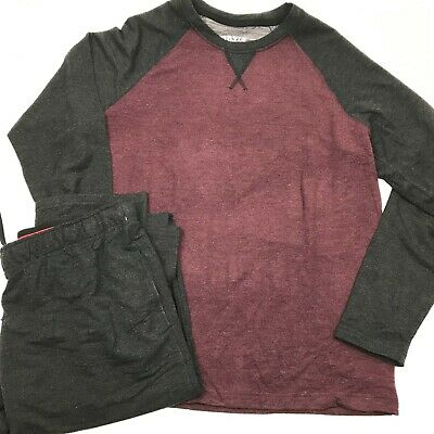 Orvis Men's 2-Piece Lounge Set XL Gray And Maroon