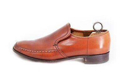 Barker Vintage Progettato Da William Barker Shoes Taglia 9 Vera Pelle Marrone-mostra Il Titolo Originale
