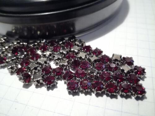 10-50 rouge alésage strass glitzersteine chaudière pierres Siam 4,5 mm #907