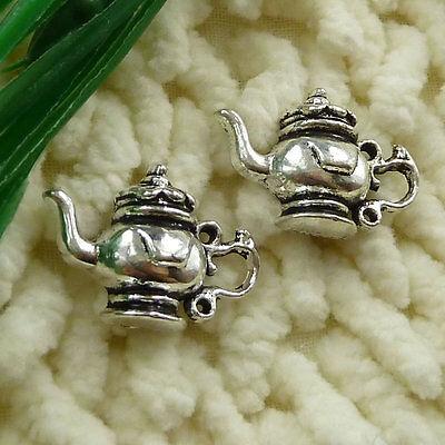 free ship 50 pieces tibetan silver teapot charms 22x15mm #2624