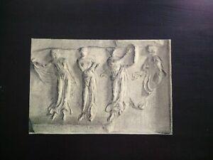 Grand dessin original curiosité XIXème étude drappé statuaire antique bas-relief