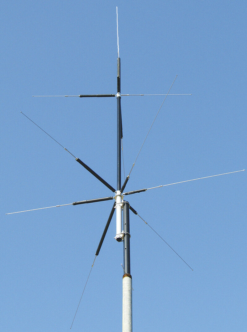 MFJ-2389 Compact 8-Band (80/40/20/15/10/6/2M&70CM) Vertical HF/VHF/UHF Antenna. Available Now for 319.95