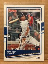 Atlanta Braves Official MLBPA Trading Card From Panini America 2020 Donruss Variations Baseball #170 Ronald Acuna Jr