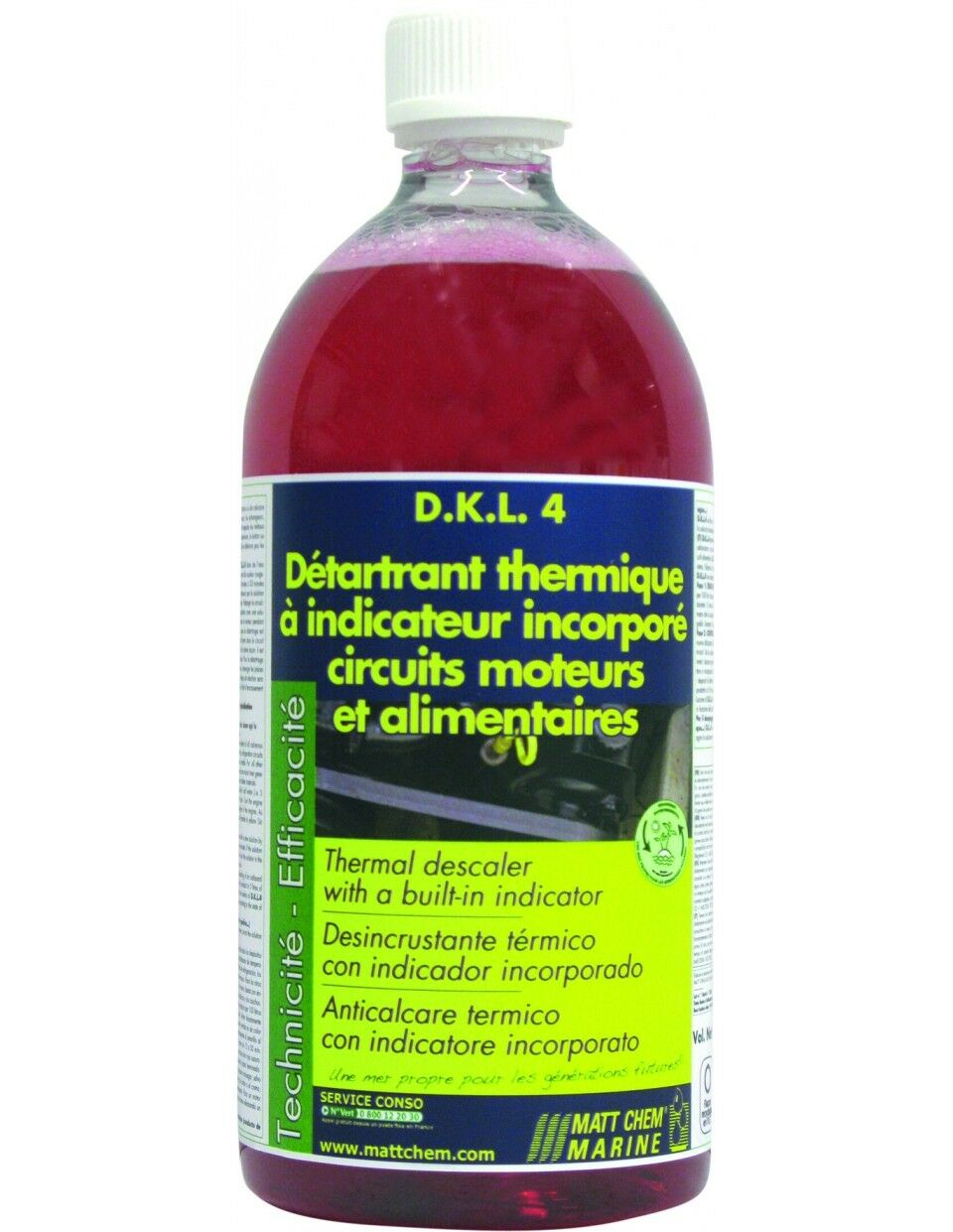 D.K.L.4 DETARTRANT HEAT HAS INDICATOR INCORPORATED  169.1oz MATT CHEM 2171 11   clearance up to 70%