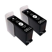 2 Non-OEM For Dell P513W P713W V313 V313W V515W V715W Black Ink Cartridges