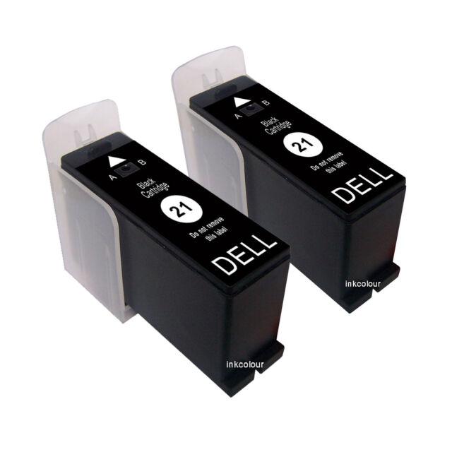 2 NO OEM para Dell P513W P713W V313 V313W V515W V715W Negro Cartuchos de tinta