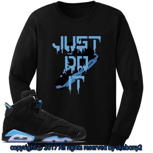 Nike Air Jordan VI RETRO 6 UNC CUSTOM LONG SLEEVE T SHIRT JD-6-4-10-L