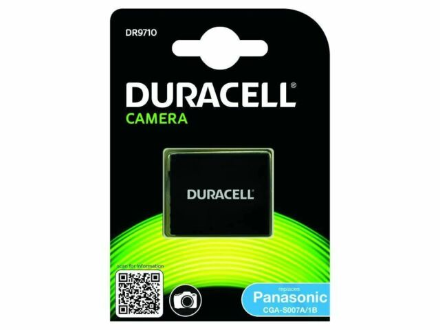 Duracell Camera Battery - replaces Panasonic CGA-S007 Battery rechargeable