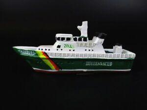 Brillant Navire Bateau Douane Hambourg Port St. Pauli 9,5 Cm Moulés Ship Modèle-afficher Le Titre D'origine BéNéFique Au Sperme