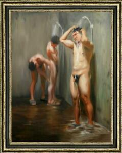 "Hand-painted Original Oil painting art Portrait male nude on canvas 30""x40"""