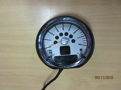 Mini Cooper S R56 Genuine Tachometer Instrument Cluster Chrome