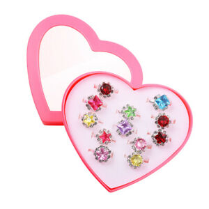 12-Pcs-Kids-Rings-Colorful-Fashion-Charming-Child-Rings-for-Toddlers-Girls-Teens