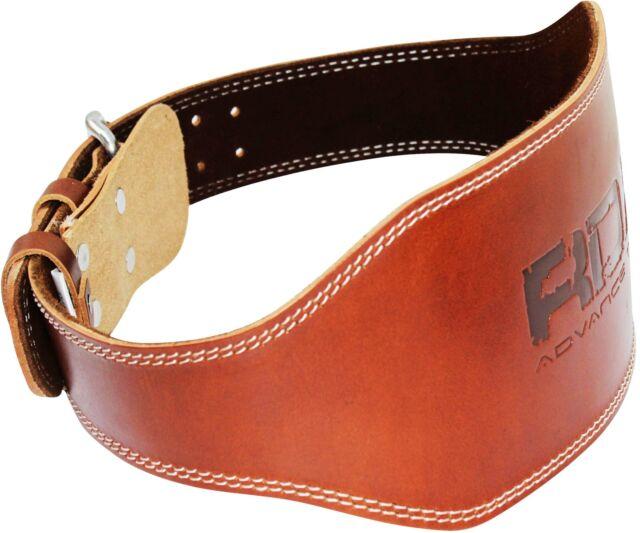 "RDX Weight Lifting 6"" Non Padded Nubuck Leather Belt Back Support Gym Training"