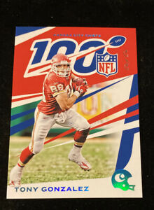 2019 CHRONICLES TONY GONZALEZ 'PLATINUM' NFL 100 SSP #'d 1/1! CHIEFS