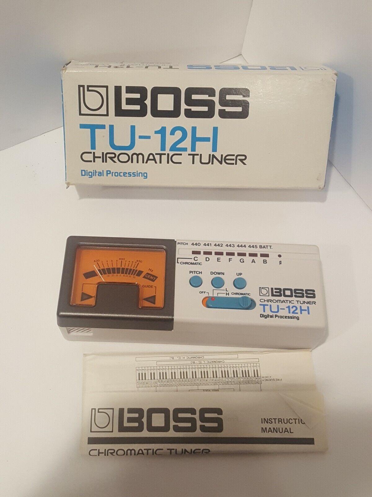 BOSS TU-12H Chromatic Guitar Tuner  made in JAPAN