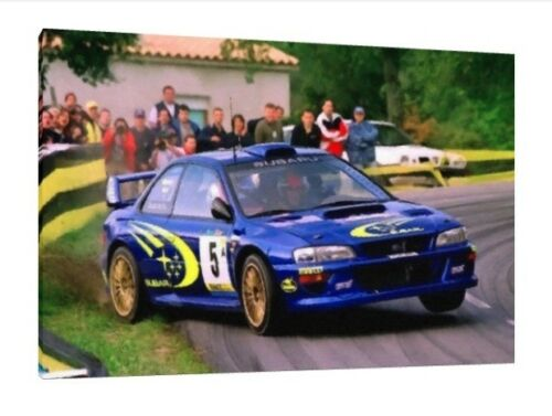 Richard Burns 30x20 Inch Canvas WRC Rally Subaru Impreza Framed Picture Sti