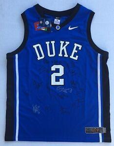 35dc159159e3 2016-17 DUKE BLUE DEVILS TEAM Signed Autographed Basketball Jersey ...