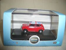 Oxford 76MN001 MN001 1/76 OO Scale Austin Mini MkI  Tartan Red Union Jack Roof