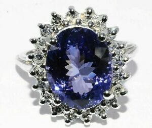 6-000-5-42CT-NATURAL-034-AAA-034-TANZANITE-amp-DIAMOND-ENGAGEMENT-RING-14K-WHITE-GOLD