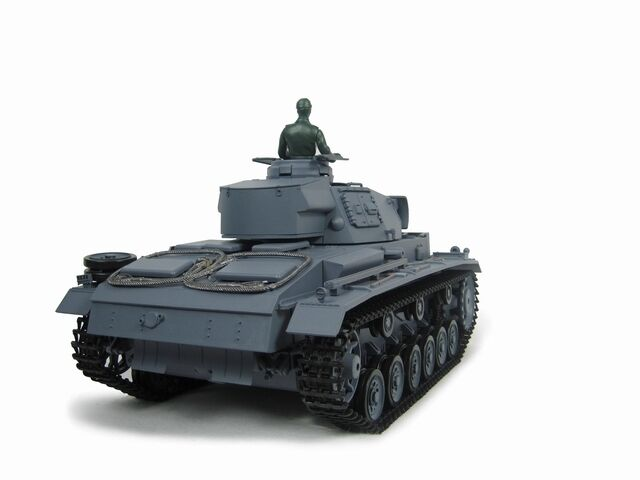 HengLong 1 16 German Panzer III L RC Tank Plastic Ver Smoke Sound Airsoft 3848-1