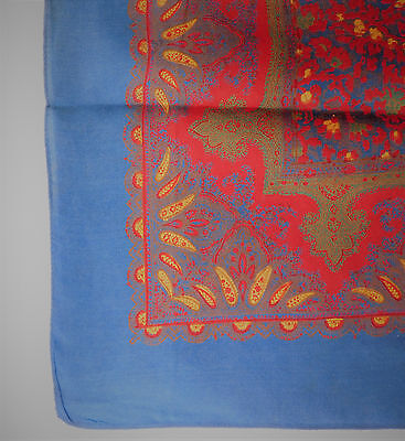 """Vintage scarf Paisley pattern men women unisex 1950s 1960s 24"""" square"""