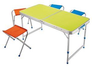 Klappmöbelset tavolo da campeggio pieghevole piegabile mit