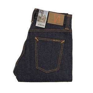 Nudie-Jeans-Brute-Knut-Jeans-Dry-Navy-Comfort-Organic-Baumwolle-112008-Neu