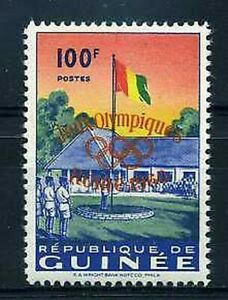 Guinea 1960 Yvert 40 überladen Spiele Ol Rom Neu Hindernis Entfernen