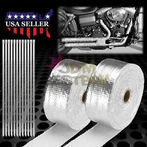 "2 Rollx2/"" 50FT Orange Exhaust Thermal Wrap Manifold Header Isolation Heat Tape"