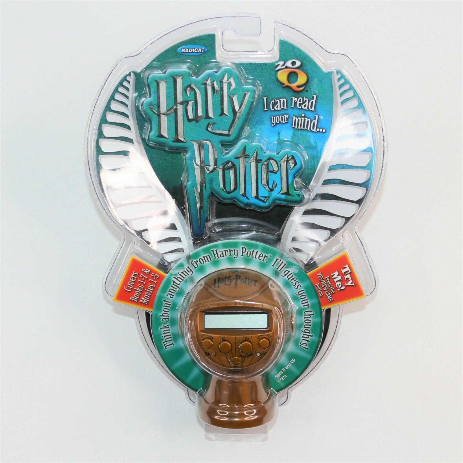 NEW MATTEL HARRY POTTER 20Q 20 QUESTIONS I CAN READ YOUR MIND GOLDEN SNITCH GAME