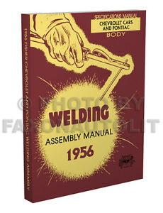 1956 chevy fisher body welding assembly manual bel air 150 210 nomad rh ebay com 1958 Chevrolet 1960 Chevrolet