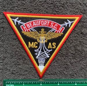 USMC AIR STATION BEAUFORT SC MCAS Military Embroidered Iron On Patch