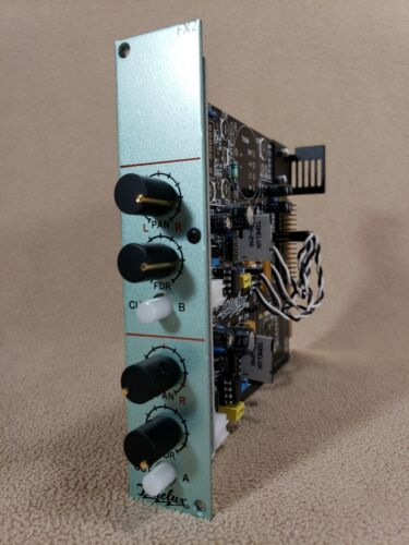 RARE Tonelux FX2 Dual Mono Line Input Mixer MODULAR V-Rack Series FX Return VR