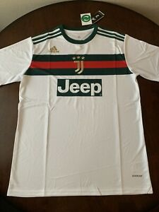 m 38o2rgi1qh9m https www ebay com itm adidas juventus gucci jeep football jersey size l soccer shirt white green red 114537681503 hash item1aaafa525f g yysaaosw mxfvhbz