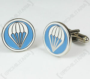 US Paratrooper JUMP WINGS CUFFLINKS American Airborne WW2 Style Para Badge Pin