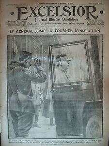 WW1-N-1619-INSPECTION-Gal-JOFFRE-FLANDRES-INONDATIONS-JOURNAL-EXCELSIOR-1915