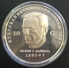 PAYS-BAS 10 Gulden 1997 Silber George Marshall Proof silver