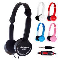 Adjustable Childs Kids Stereo Headphone DJ Music Headset Mic for iPod PC MP4 MP3