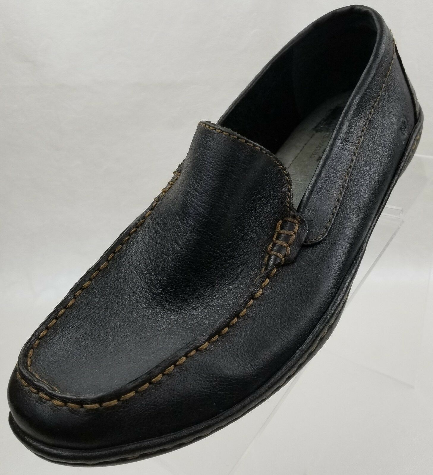Born Lofers Moc Toe  Marronee Leather Slip on Mens scarpe Dimensione EU 41 US 8 NUOVO  in cerca di agente di vendita
