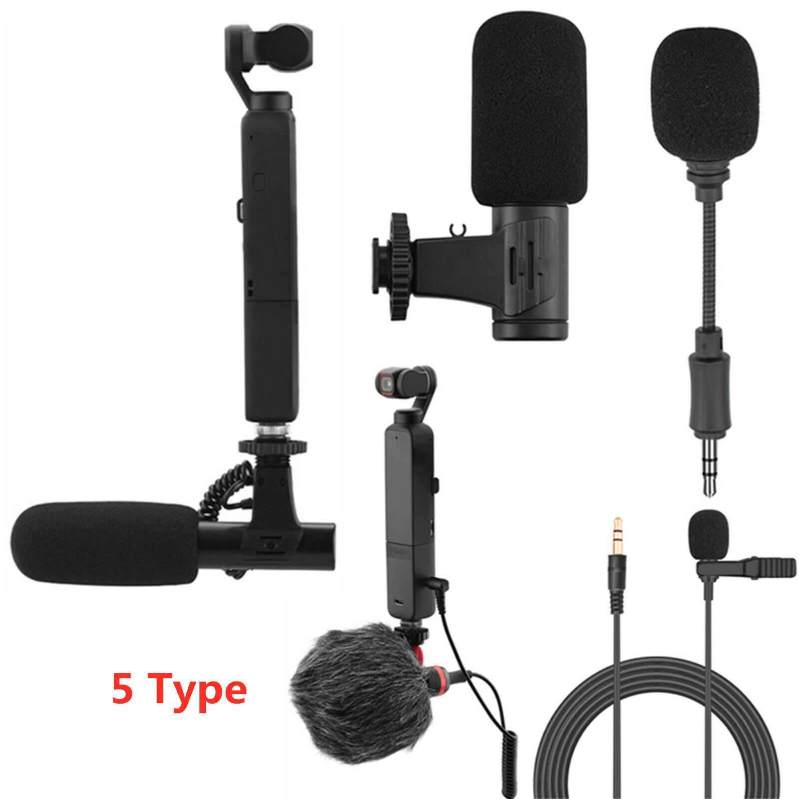 Short/Long Microphone for DJI OSMO POCKET 2 Do-It-All Handle Gimbal Camera Part