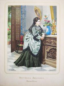 AMERICA-ARGENTINA-Pradilla-Republica-Argentina-Cromolitografia-original-1873