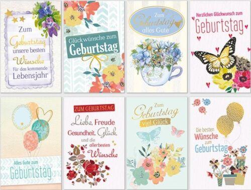 100 Cartes d/'anniversaire carte d/'anniversaire félicitations cartes cartes de vœux SK 4767