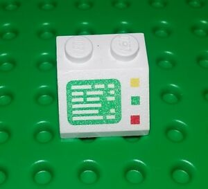 Lego Rare White Computer Screen Space Picture Classic 2x2 Stud Brick x 1 piece