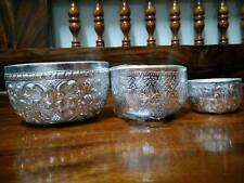 "2"",3"",4"" TRADITIONAL VINTAGE  ASIAN BOWL ALUMINIUM THAI WATER DIPPER SILVER"