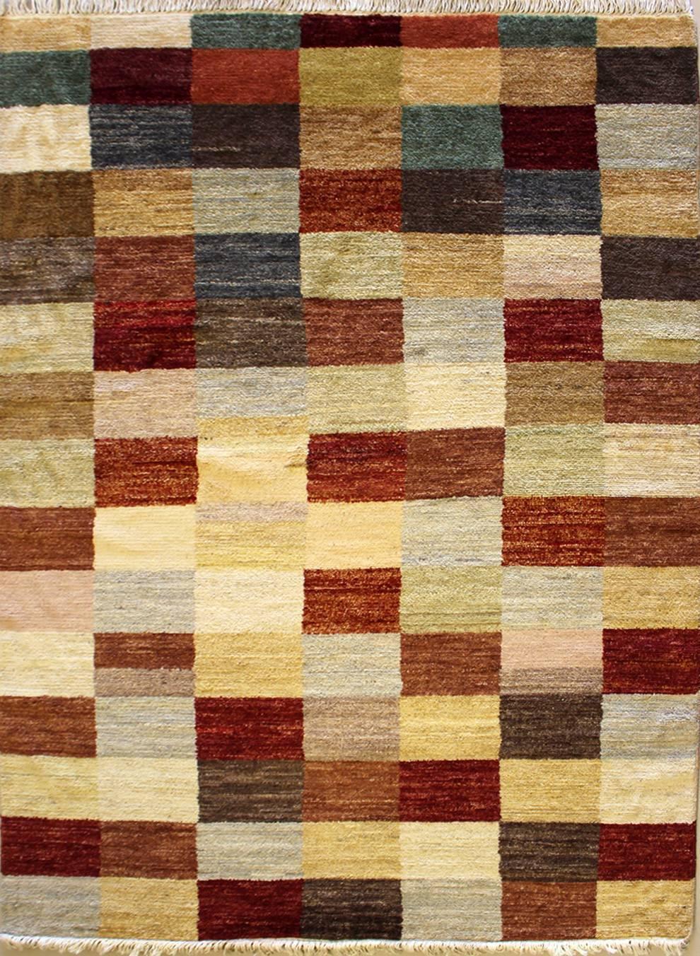 Rugstc Rugstc Rugstc 4.5x7  Gabbeh MulticolGoldt Area Rug,Genuine Hand-Knotted, Wool Pile c5fd4c