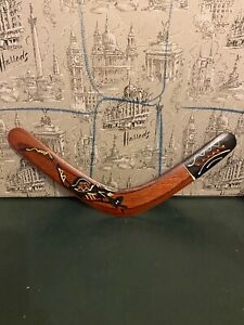 Authentic-Aboriginal-boomerang-14-Inch-by-Murra-Wolka-Pre-owned