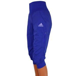 Details zu Adidas ED 34 Climb Pant Damen Hose Caprihose Wanderhose Freizeit Boulder blau